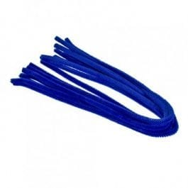 Efco Pipe Cleaners 8mm/50cm Blue Pk 10