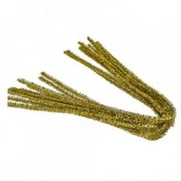 Efco Pipe Cleaners 8mm/50cm Gold Pk 10