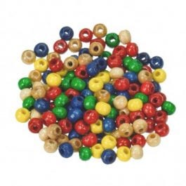 Efco Wooden Beads 3.5mm x 16mm Assorted Colours Pk 15