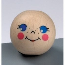 Efco Wooden Doll Head 25mm with Hole Pk 1