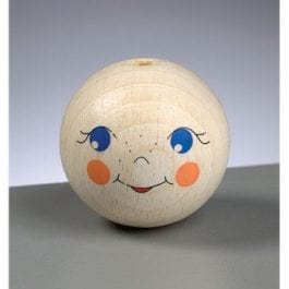 Efco Wooden Doll Head 40mm with Hole Pk 1