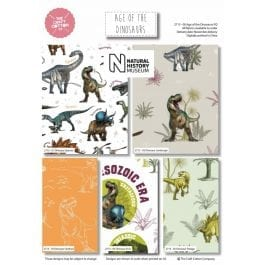 Craft Cotton Company Fat Quarter Pack Natural History Museum Age of the Dinosaurs Pk 5