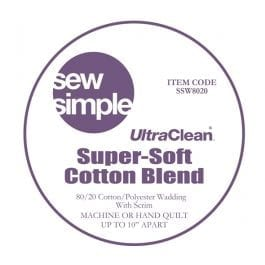 EQS Sew Simple Cotton/Polyester 80/20 Wadding 90in Wide