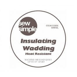 EQS Sew Simple Insulating Wadding 22.5in Wide