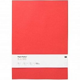 Rico Design Paper Poetry Basic Paper A4 120gsm Red Pk 10