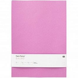 Rico Design Paper Poetry Basic Paper A4 120gsm Purple Pk 10