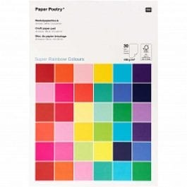 Rico Design Paper Poetry Craft Paper Pad A4 180 gsm Rainbow Pk 30