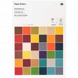 Rico Design Paper Poetry Craft Paper Pad A4 180 gsm Super Earthy Pk 30