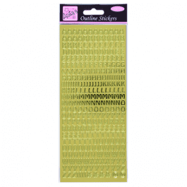 Anita's Outline Stickers – Capital Letters – Gold