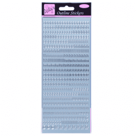 Anita's Outline Stickers – Large Numbers – Gold