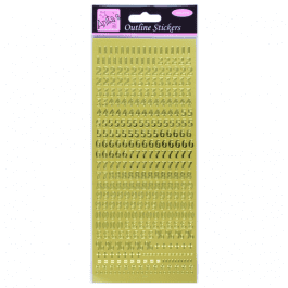 Anita's Outline Stickers – Small Numbers – Gold