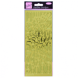 Anita's Outline Stickers – Mixed Numbers – Gold