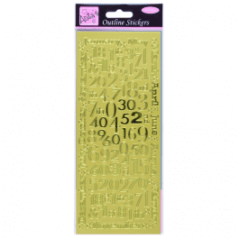 Anita's Outline Stickers – Months And Numbers – Gold