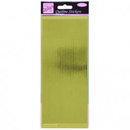 Anita's Outline Stickers – Straight Line Borders – Gold