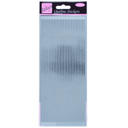 Anita's Outline Stickers – Straight Line Borders – Silver