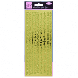 Anita's Outline Stickers – Floral Borders – Gold