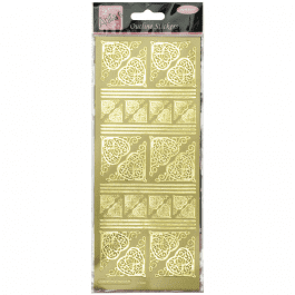 Anita's Outline Stickers – Celtic Heart Corners – Gold