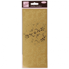 Anita's Outline Stickers – Fanciful Floral Corners – Gold