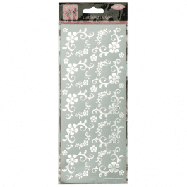 Anita's Outline Stickers – Fanciful Floral Corners – Silver