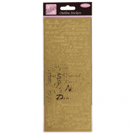 Anita's Outline Stickers – Couples – Gold