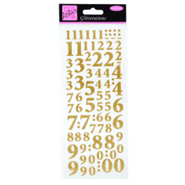 Anita's Glitterations – Numbers – Gold