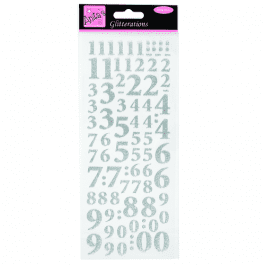 Anita's Glitterations – Numbers – Silver