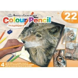 Royal & Langnickel Colour Pencil by Numbers Box Set Wild Life
