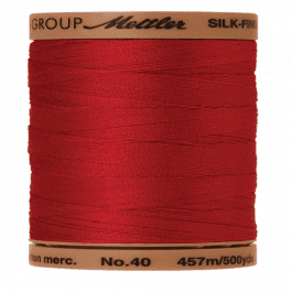 Mettler Silk-Finish Cotton 40 457m/500yds Country Red