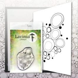 Lavinia Clear Polymer Stamp Blue Orbs