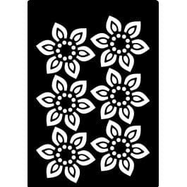 Creative Expressions Mini Stencil 4.2in x 3.0in – Beaded Flower