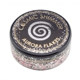 Cosmic Shimmer Aurora Flakes 50ml – Icy Pink
