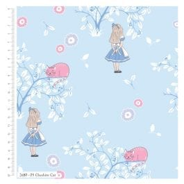 Craft Cotton Company V&A Alice in Wonderland Printed Cotton 110cm Cheshire Cat