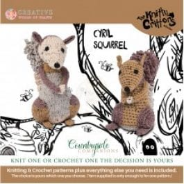 Knitty Critters Crochet/Knitting Kit Country Companions Cyril Squirrel
