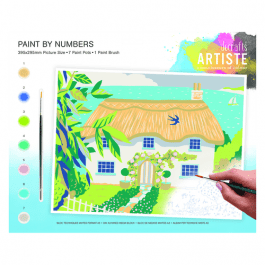 Docrafts Large Paint By Numbers – Country Cottage