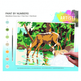 Docrafts Large Paint By Numbers – Woodland Deer