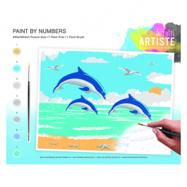 Docrafts Large Paint By Numbers – Leaping Dolphins
