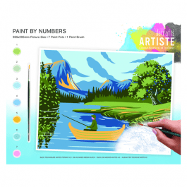 Docrafts Large Paint By Numbers – Lakes & Mountains