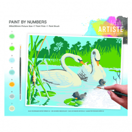 Docrafts Large Paint By Numbers – Serene Swans