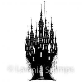 Lavinia Clear Polymer Stamp Dragon Stone Castle