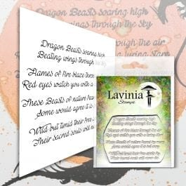Lavinia Clear Polymer Stamp Dragon Verse