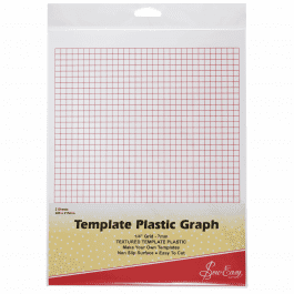 Sew Easy Template Plastic Graph 280mm x 215mm Pk 2