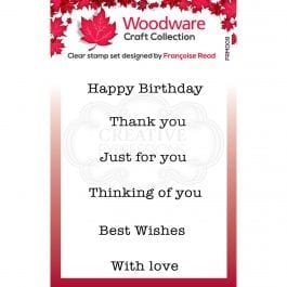 Woodware Clear Singles 2.6″ x 1.7″ Stamp – Mini Greetings