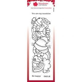 Woodware Clear Stamp 8″ x 2.6″ Heart Border