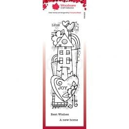 Woodware Clear Stamp 8″ x 2.6″ Rainbow House