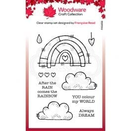Woodware Clear Stamp 6″ x 4″ Rainbow World