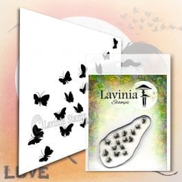 Lavinia Clear Polymer Stamp Flutterbies