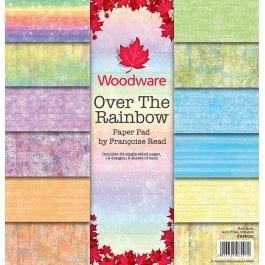 Woodware Paper Pad 8″ x 8″ Over The Rainbow Pk 24