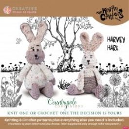 Knitty Critters Crochet/Knitting Kit Country Companions Harvey Hare