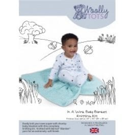 CWOC Wooly Tots Knitting Kit In A Wink Baby Blanket