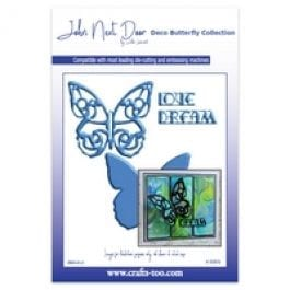 John Next Door Deco Butterfly Die Collection Large Deco Butterfly